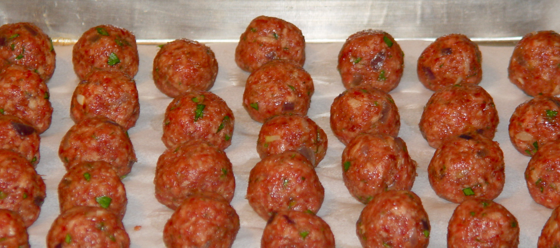 Chipotle Meatballs - uncooked